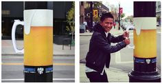 街中にあるものを巧みに活かしたオクトーバーフェストの屋外ポスター | AdGang