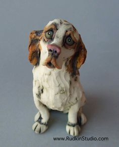 Brittany Spaniel Custom Pet Sculpture: Alice