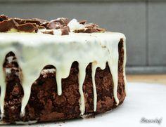 sernik bounty Eat To Live, Tiramisu, Pudding, Lunch, Meals, Snacks, Chocolate, Baking, Dinner