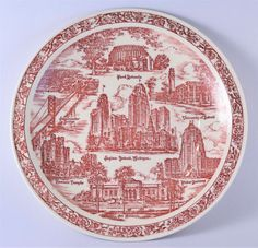 Vernon Kilns collector Detroit MI plate by OSGVintage on Etsy