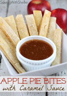 Who needs a whole pie when you can make Apple Pie Bites. Quick, easy and YUM! Whip up some caramel sauce or serve with a side of ice cream.