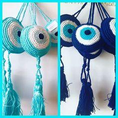 handknitted tassel evil eyes bonboniera#summer2016 #exclusive #cottonprince