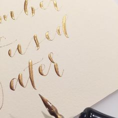 Burning the midnight (or 8 o'clock) oil with some gold ink items! #moderncalligraphy #calligraphy #goldink #bridalinspiration #foodsigns #drinksigns