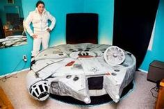 A true geek bed has to be the Millennium Falcon Bed.Yes,Kyla Kromer has done it again.She has created a star wars fans dream bed-The Millennium Falcon Bed Hamburger Bed, Modern Art Movements, Dark Carpet, Millenium Falcon, Star Wars, Cool Beds, How To Make Bed, So Little Time, Your Design