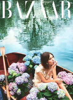 June issue of Harper's Bazaar UK, featuring Alexa Chung photographed by David Slijper with styling by Leith Clark.