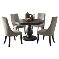 New Barrington 5 Piece Dining Set Kitchen Dinings Room Furniture. offers on top store Solid Wood Dining Set, Solid Wood Table Tops, 7 Piece Dining Set, Dining Room Sets, Kitchen Dining Sets, Round Kitchen, Kitchen Tables, Small Dining, Wood Table Bases