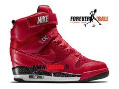 huge selection of 47dc0 ca074 Nike Air Revolution Sky Hi GS - Chaussure Montante Nike Pas Cher Pour Femme  Bleu Blanc 599410-403