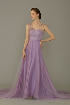 Purple Wedding Gown by Amanda Lee Weddings  SingaporeBrides Spring/Summer 2015 LookBook
