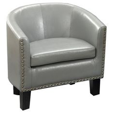 Grey Accent Chair, Grey Chair, Accent Chairs, Transitional Living Rooms, Transitional Decor, Transitional Kitchen, End Tables With Storage, Barrel Chair, Chair Fabric