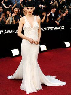 Rooney Mara's 2012 Oscar Dress by Givenchy #oscars #roonerymara