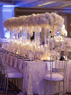 Wedding reception centerpiece idea; Featured Planner: Liz Beck Designs