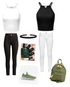 Lena and Lisa outfit by julieselina on Polyvore featuring rag  bone, NIKE, Moschino and Humble Chic