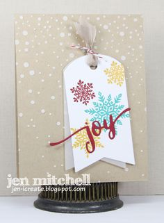 Snowflakes, Christmas card, colourQ, Tag You're It, Papertrey Ink, WPlus9, I Create