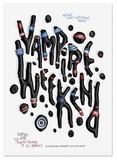 Vampire Weekend by Alex Trochut, via Behance