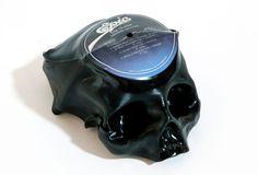 Melted vinyl... in the shape of skulls! Thrilling!