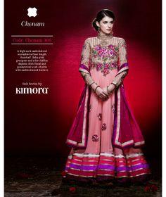 #Baby #Pink #Georgette #Anarkali #Suit by #Kimora: #Chenam 305 #wedding  Price Rs. 6599.00   US $ 110
