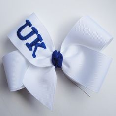University of Kentucky UK College Football NFLYour Favorite Sports Team Custom Monogrammed Hairbow Hair Bow