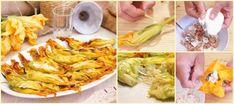 """Benvenuti su Spettegolando.it Dopo avervi proposto la ricetta classica dei fiori di zucca impanati e fritti """" ciurilli fritti"""", quest'oggi vi lascio"""