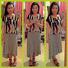 top-mango,skirt-forever 21,sandal-vincci