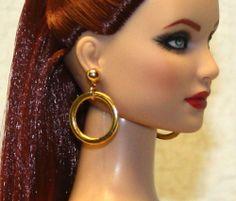 """Infinity"" AGP Earrings for Tonner Tyler Cami Ellowyne Dee Anna AM Gene Sybarite"