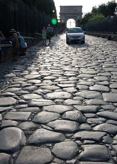 Cobblestone, Rome , Italy