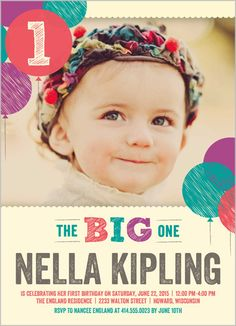 103 Best Baby Girl S 1st Birthday Invitations Images On Pinterest