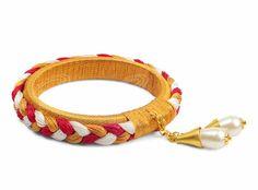 Darling Make Alphabet Friendship Bracelets Ideas. Wonderful Make Alphabet Friendship Bracelets Ideas. Silk Thread Bangles Design, Silk Bangles, Thread Jewellery, Fabric Jewelry, Gold Jewellery, Quartz Jewelry, Silver Jewelry, Bangles Making, Jewelry Making