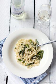 Spaghetti with lemon, mascarpone & asparagus..must be delicious! / Kauhaa ja rakkautta blog