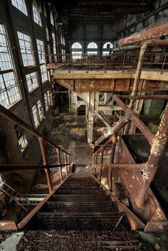 Interior. Abandoned Market St. Power Plant, New Orleans ~ETS #NOLA #abandoned