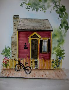 Little Red House on State Street - Diane Duvall King