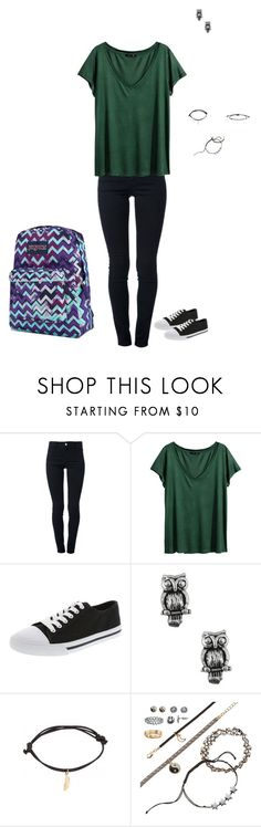 """""""Day 71 @ School"""" by maddieshu ❤ liked on Polyvore featuring STELLA McCARTNEY, H&M, Retrò, Jewel Exclusive, SO and JanSport"""