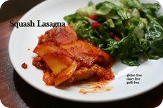 Squash Lasagna- Oh it's delicious!! – Gluten & Dairy Free!