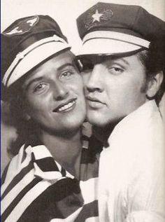 Elvis Presley and June Juanico c. 1956