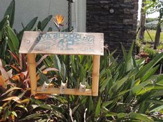 Bamboo Bird Feeder by PurveyorsOfFineJunk on Etsy, $20.00