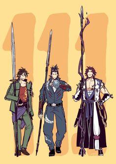 11月1日は三名槍の日になればいいと思います Character Concept, Character Art, Character Design, Cricket, Rurouni Kenshin, Touken Ranbu, Anime Guys, Manhwa, Sword