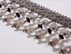 1m grey Curtain Lace Accessory Fabric Trim Tassel Crystal Sewing Tassel Fringe | Crafts, Sewing, Embellishments & Finishes | eBay!