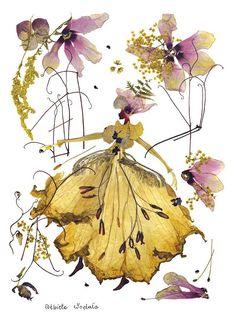 """Cultura Inquieta - Una artista ofrece una segunda vida a las plantas creando elegantes """"pinturas"""" florales"""