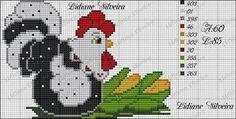 Rooster Cross Stitch, Chicken Cross Stitch, Mini Cross Stitch, Beaded Cross Stitch, Cross Stitch Borders, Cross Stitch Animals, Cross Stitch Charts, Cross Stitching, Cross Stitch Embroidery