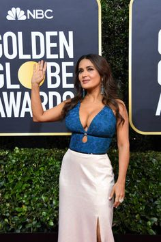Salma Hayek attends the Annual Golden Globe Awards at The Beverly Hilton Hotel on January 05 2020 in Beverly Hills California Golden Globe Award, Golden Globes, Salma Hayek Pictures, Selma Hayek, Just Beauty, Attractive Girls, Jolie Photo, Instagram Models, Sexy Women