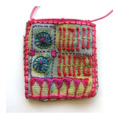 Hand Embroidered MultiColored Pocket by MadrigalEmbroidery on Etsy, $43.00