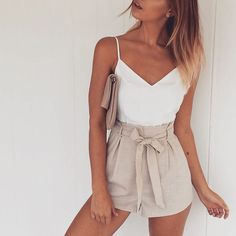 "Loving our ""All Tied Up"" shorts  Available in Tan, Black & Natural ➕ Match it with our ""Do Ya Thang"" Cami. Now available in-store ! WWW.SEAGULLSOFSTKILDA.COM.AU"