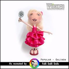 galinda / glinda - wicked the musical popular peg doll by fabi dabi dolls available now on our ebay store Musicals, Wicked, Popular, Dolls, Christmas Ornaments, Store, Holiday Decor, Clothes, Ebay