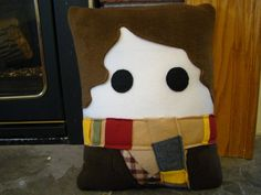 Doctor Who inspired plush pillow, Tom Baker, 4th Doctor decorative pillow