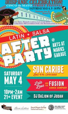 Inarajan, GU Cinco de Mayo Street Festival takes place Saturday, May 4, 2013, 5-10pm, Nuuanu Avenue & Hotel St, FREE, with Art, Music, Mustache Contest, Food Truck Battle, Latin Dance, 808 Low Riders Pride… Click flyer for more >>
