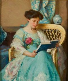 """A Woman Reading,"" William Chadwick, ca. 1911, oil on canvas, 24 x 20"", Florence Griswold Museum."