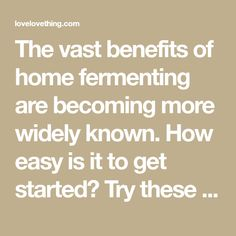 The vast benefits of home fermenting are becoming more widely known. How easy is it to get started? Try these beginner fermenting recipes and see!