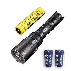 Combo Nitecore SRT7GT Flashlight Smart Select Ring MultiColored LEDs  1000 Lumens XPL Hi V3 wNL189 3400mAh 18650 2x FREE EcoSensa CR123A Batteries -- More info could be found at the image url. (This is an affiliate link) #CampingLightsLanterns
