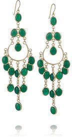 Long Gypsy 18-karat gold-plated drop earrings by Isharya