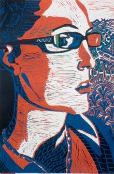 Printmaking- good idea - using pattern in large areas that would otherwise be flat.