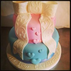 boy and girl christening cakes - Google Search